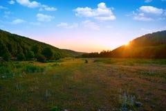 Ranku krajobraz przy świtem, Zdjęcie Stock