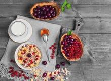 Ranku muesli mieszanki śniadaniowi zboża Zdjęcie Royalty Free