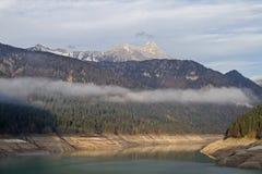 Ranku nastrój na Lago Di Sauris Obrazy Royalty Free