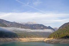 Ranku nastrój na Lago Di Sauris Obrazy Stock