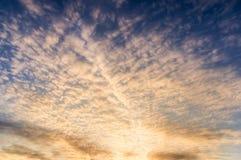 Ranku niebo na zimy morzu Fotografia Royalty Free