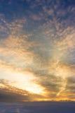 Ranku niebo na zimy morzu Zdjęcie Royalty Free