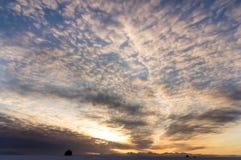 Ranku niebo na zimy morzu Obraz Royalty Free