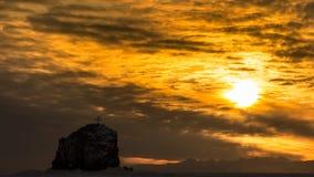 Ranku niebo na zimy morzu Fotografia Stock