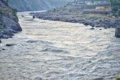 Ranku obrazek rzeka w ind zdjęcie stock