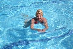 ranku pływanie fotografia stock