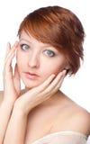 Ranku portret młoda kobieta fotografia royalty free