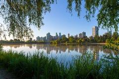Ranku przespacerowanie przy Stanley parkiem Vancouver BC Kanada zdjęcia royalty free