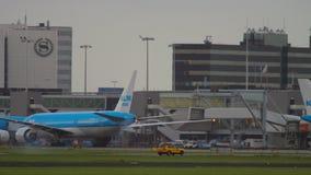Ranku ruch drogowy w Amsterdam zdjęcie wideo