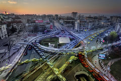 Ranku ruch drogowy w mieście Iasi, Rumunia obraz royalty free