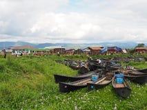 Ranku rynek na Inle jeziorze Fotografia Royalty Free