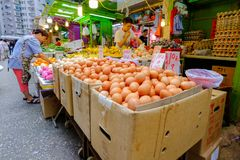 Ranku rynek w Mong Kok Obraz Stock