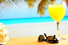Ranku sok pomarańczowy Zdjęcia Royalty Free