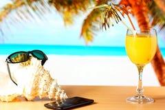 Ranku sok pomarańczowy Obrazy Royalty Free