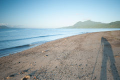 Ranku spacer przy plażą Obrazy Stock