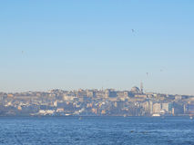 Ranku widok Istanbuł Bosphorus cieśnina Zdjęcie Royalty Free