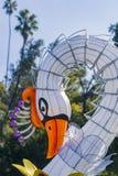 Ranku widok kolorowy lampion blask księżyca las Festiva fotografia royalty free