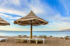Ranku widok na Czerwonym morzu, Eilat Obraz Royalty Free