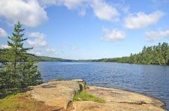 Ranku widok na Pustkowie jeziorze Fotografia Royalty Free
