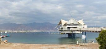 Ranku widok na zatoce Aqaba blisko Eilat Fotografia Royalty Free