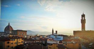 Ranku widok nad Florencja obrazy royalty free