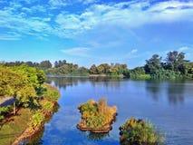 Ranku widok Punggol rzeka Obraz Stock
