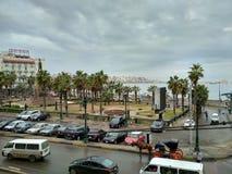 Ranku widoku Alexandria morze obraz royalty free