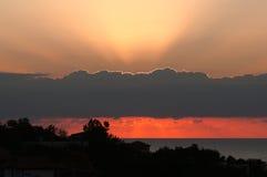 Ranku wschód słońca na bankach Czarny morze w Bułgaria. Zdjęcia Royalty Free