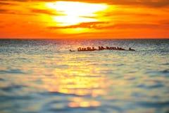 Ranku wschód słońca nad morzem Obrazy Royalty Free