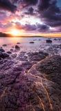 Ranku wschód słońca nad Phillip wyspą obrazy stock