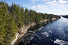 Ranney klyfta - Trent Severn River System, Ontario fotografering för bildbyråer