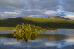 Rannoch amarra Escocia Imagen de archivo