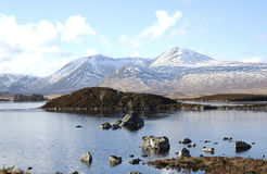 Rannoch amarrent des lochans Images stock