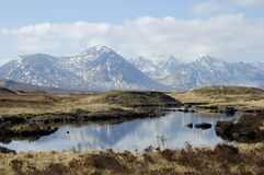 Rannoch amarrent en hiver Photos stock