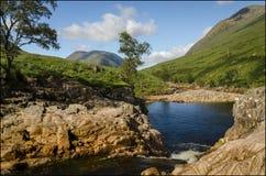 Rannoch hed Skottland royaltyfria foton
