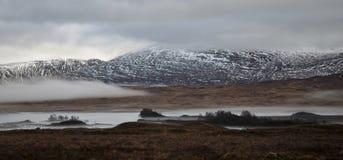 Rannoch legt in Schotland vast stock afbeeldingen