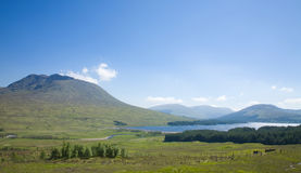Rannoch Moor. National Heritage site. Late spring, bright sunny day stock photo
