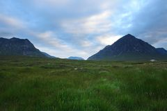 Rannoch Moor at evening time Stock Photography