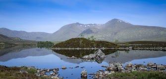Rannoch moor loch highlands scotland Stock Photography