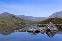 Rannoch moor loch highlands scotland Royalty Free Stock Photography