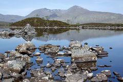 Rannoch moor loch scottish highlands Stock Photos