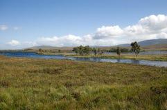 Rannoch Moor, Scotland Highlands. Sky, hills, water and marsh in Scotland highlands Rannoch Moor Stock Photos