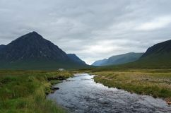 Rannoch Moor with small stream Royalty Free Stock Photo