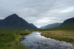 Rannoch Moor with small stream Royalty Free Stock Photo