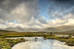 Rannoch Moor Sunshine Stock Images