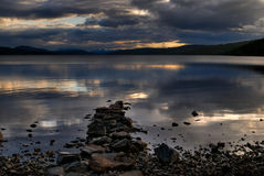 Rannoch Moore sunset Royalty Free Stock Image