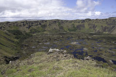 Rano Kau Crater Royalty Free Stock Photography