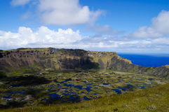 Rano Kau Crater - Easter Island Stock Photography