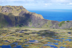 Rano Kau crater - Easter Island Royalty Free Stock Image