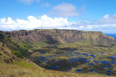 Rano Kau crater - Easter Island stock images